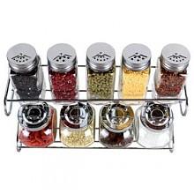 拜杰 厨房十件套玻璃调味罐 BK-10TB
